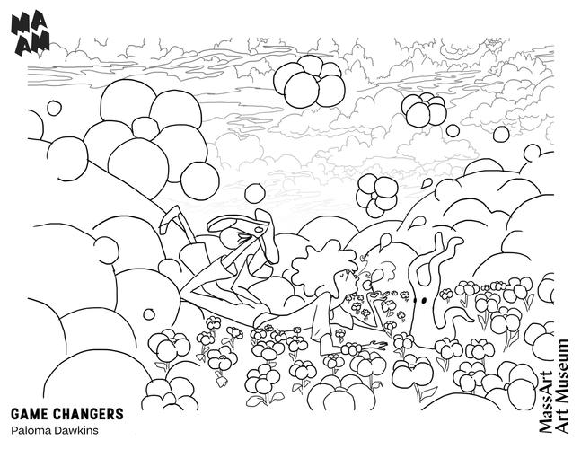 MAAM Game Changers Paloma Dawkins Coloring Page 2020