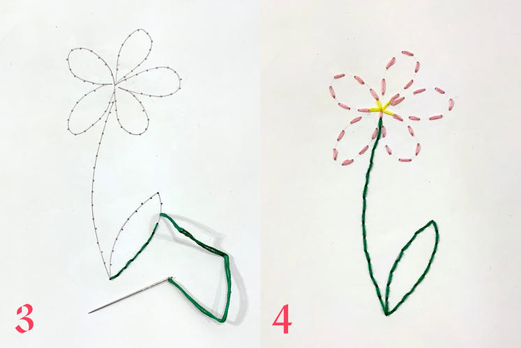 Paper Embroidery Instruction 2