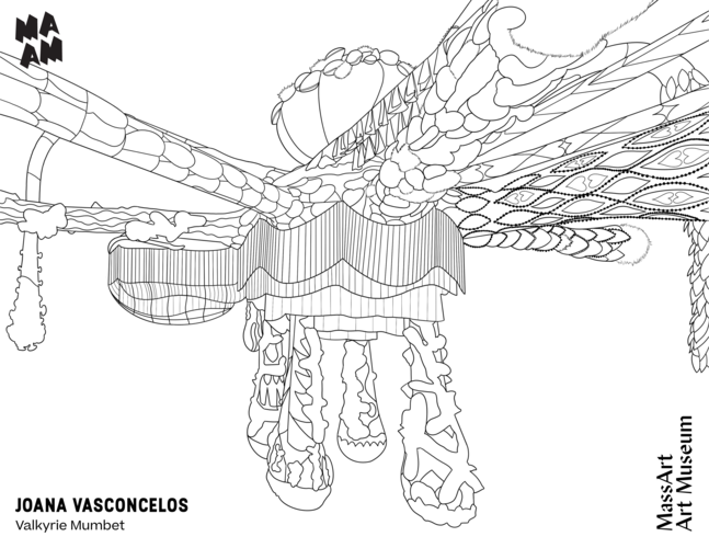 Installation of Joana Vasconcelos, Valkyrie Mumbet at MAAM Coloring Page